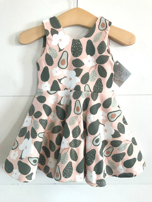 RTS Avocado Blossom Twirl Dress