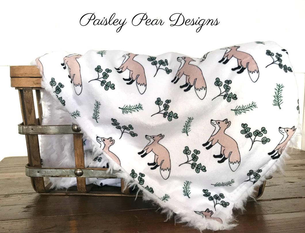 Little Fox-Luxurious Faux Fur/Minky Blanket