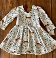 Farmhouse Deer Forest Twirl Dress