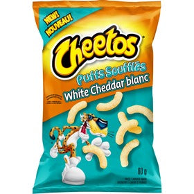 Cheetos Puffs White Cheddar Cheese Flavoured Snacks 80g
