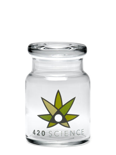 420 Science Pop Top Jar Small - 420 Science Logo