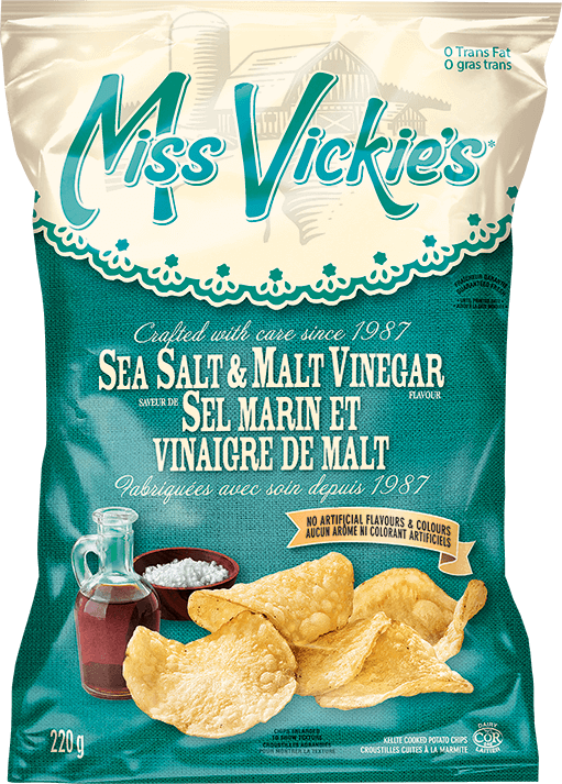 Miss Vickie's Sea Salt & Malt Vinegar 220g