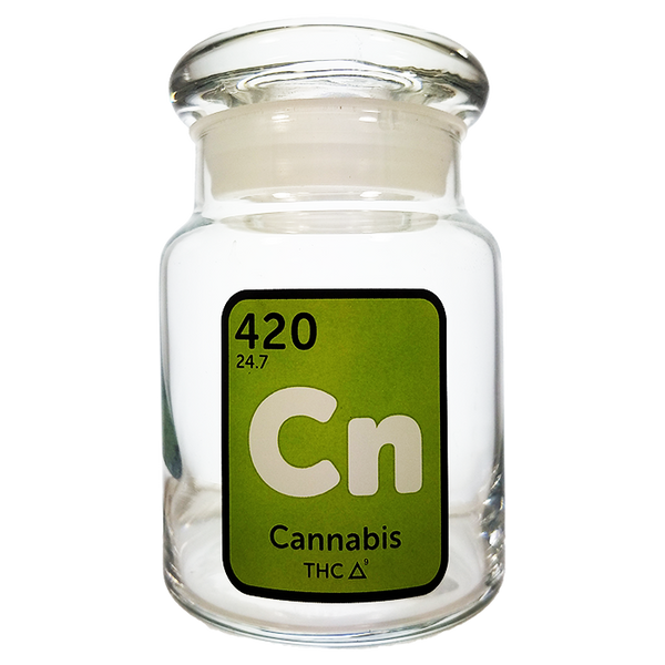 420 Science Pop Top Jar Small - Cannabis Element