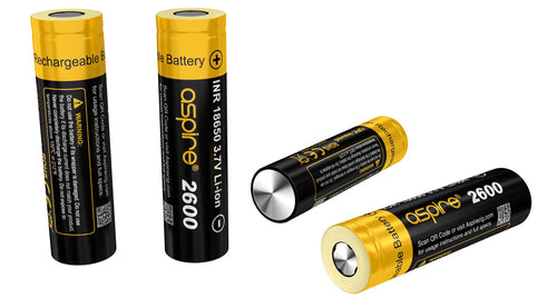 Aspire 18650 battery 2600mah 20A *2 Pack - TheNorthBoro