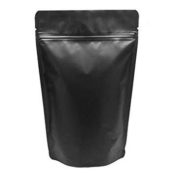 Matte Black Resealable Zip Mylar Bag Food Storage Aluminum Foil Bags Smell Proof Pouches