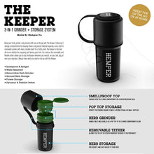 Hemper The Keeper Grinder - Smell Proof Airtight Container