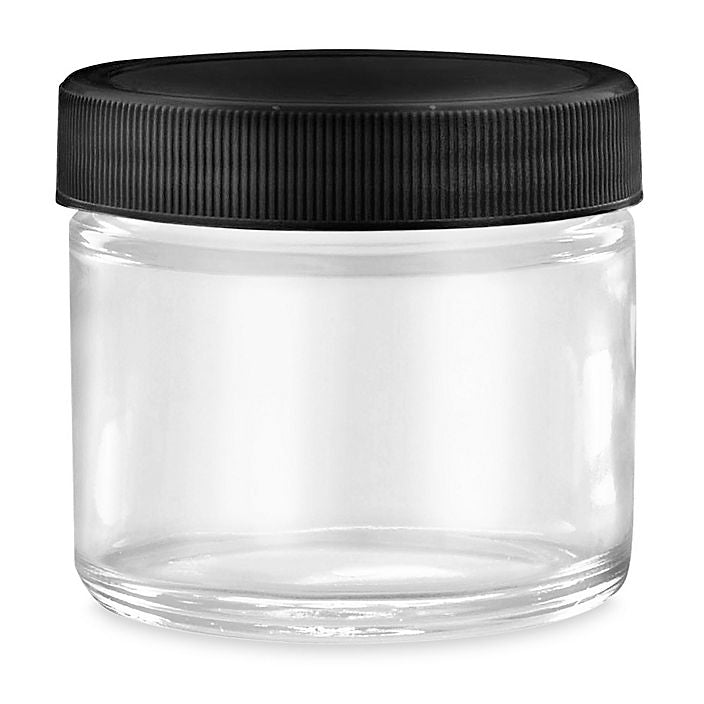 2 oz - Straight Sided - Glass Jars