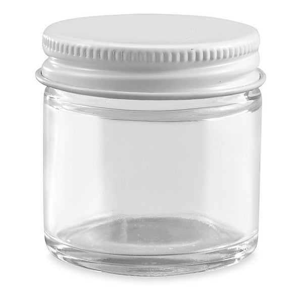 1 oz - Glass Jar with Metal Lid
