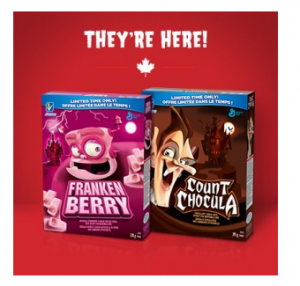 Franken Berry & Count Chocula Cereal