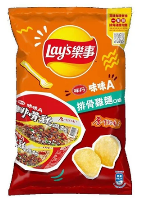 LAY'S Chips (Ribs & Chicken Flavor) 36g