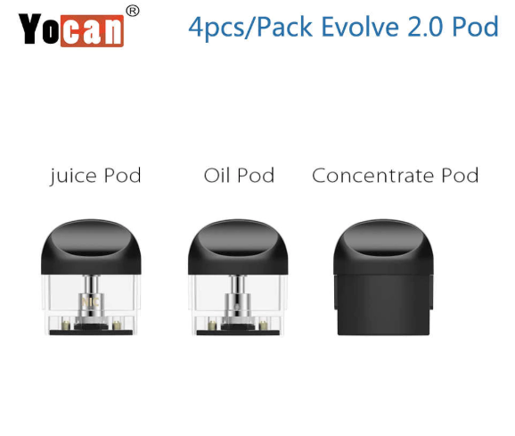 Yocan Evolve 2.0 Replacement Pods 4/PK