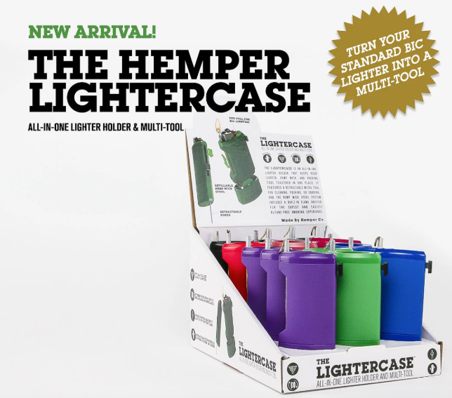 Hemper Lighter Case - Hemp Dispenser & Poker