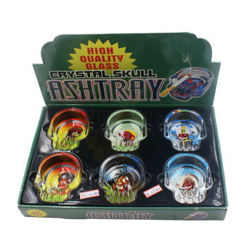 Glass Skull Ashtrays