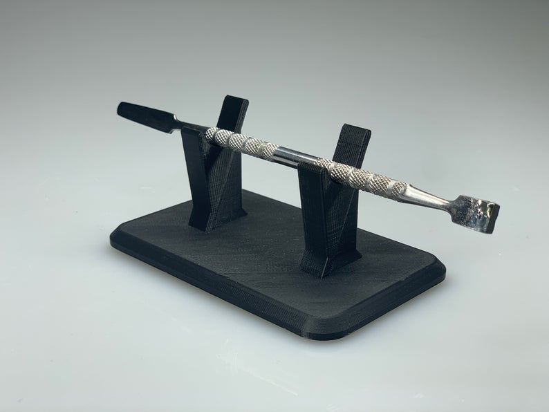 Single Dabber Stand - Black / Rack for holding one dab tool wand / holder for dabbing tools