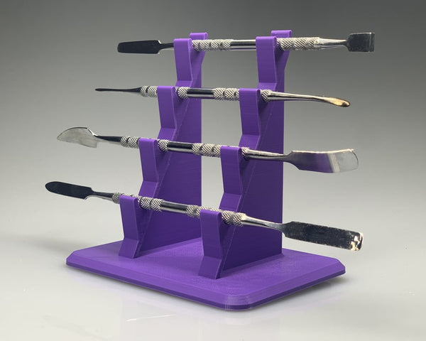 Quad-Tiered Dab Tool Rack - Purple / Stand for Dabber Tools / Holders for Dabbers / Dabbing Tools