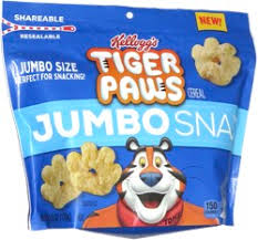 Kelloggs Jumbo Snax Tiger Paws Cereal