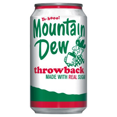 moutain dew - throw back - the north boro - quebec - canada - soda - rare