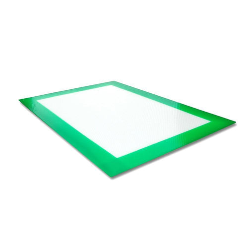 green silicon pad - dab mat - heat resistant - oilslick