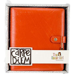 Simple Stories Carpe Diem A5 The Reset Girl Faux Leather Planner Persimmon Binder Only 4943