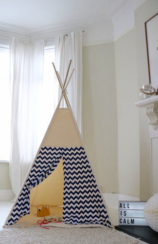 Navy Chevron Teepee