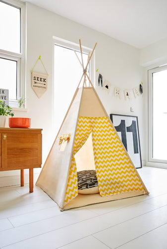 Yellow Chevron Teepee