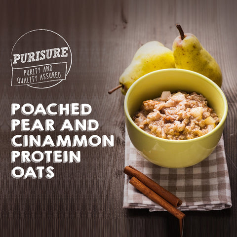 Poached-Pear-And-Cinnamon-Protein-Oats