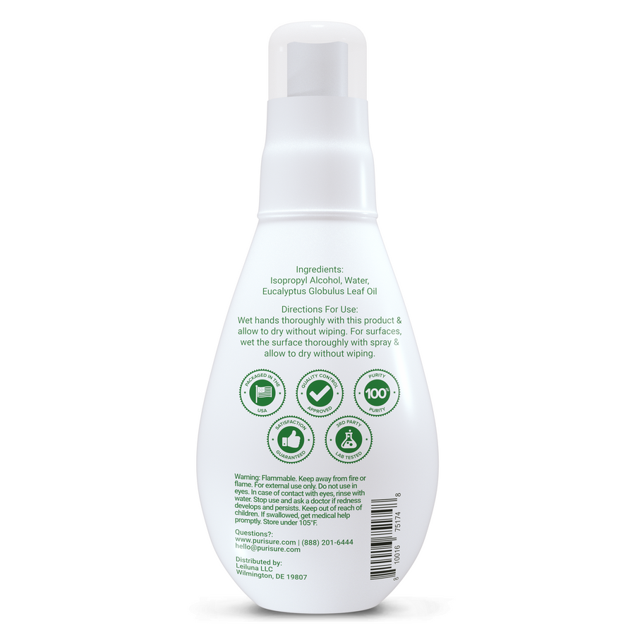 70% Alcohol + Eucalyptus Purifying Spray