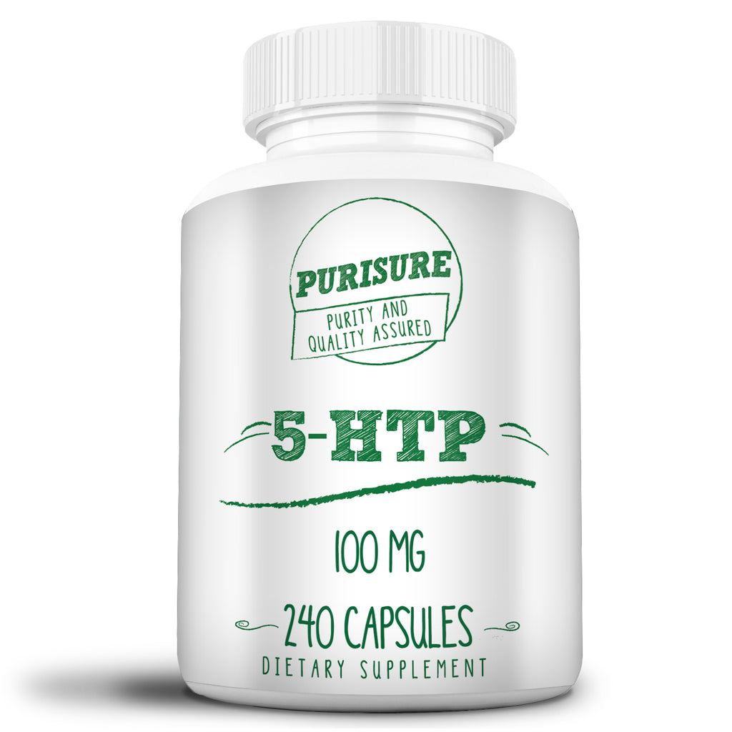 5-HTP Capsules 100mg Mood Support Serotonin Supplement Brain Supplement Antidepressant