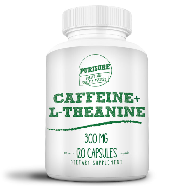 Caffeine + L-Theanine 300mg (120 Capsules)