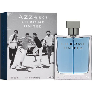 Chrome United by Azzaro Men Eau De Toilette 3.4 oz