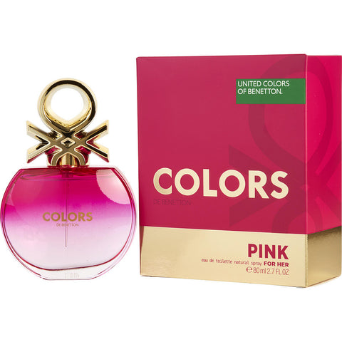 Colors De Beneton Pink by Benetton Women Eau De Toilette 2.7 oz