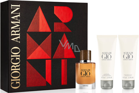 Acqua Di Gio Absolu by Giorgio Armani Men Gift Set 3 Piezas