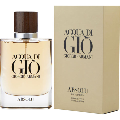 Acqua Di Gio Absolu by Giorgio Armani Men Eau De Parfum 2.5 oz