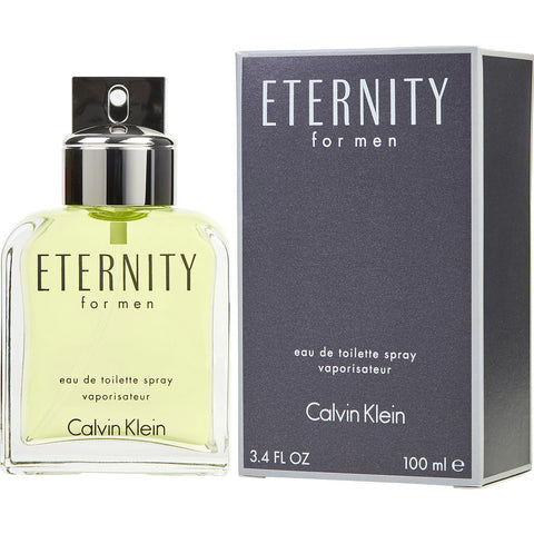 Eternity For Men by Calvin Klein Men Eau De Toilette 3.4 oz