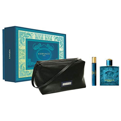 Versace Eros by Gianni Versace Men Gift Set 3 Piezas