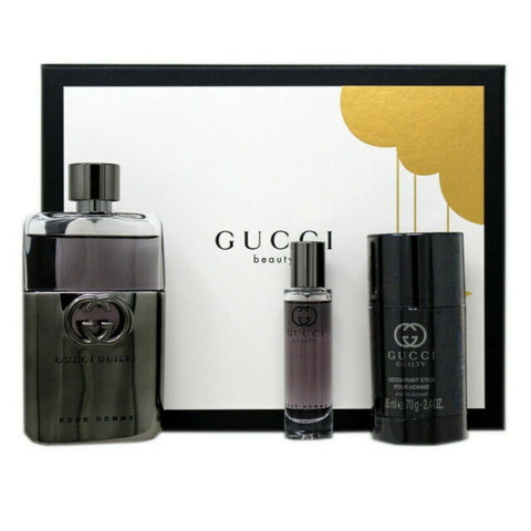 Gucci Guilty Pour Homme by Gucci Men Gift Set 3 Piezas