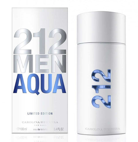 212 Aqua by Carolina Herrera Men Eau De Toilette 3.4 oz