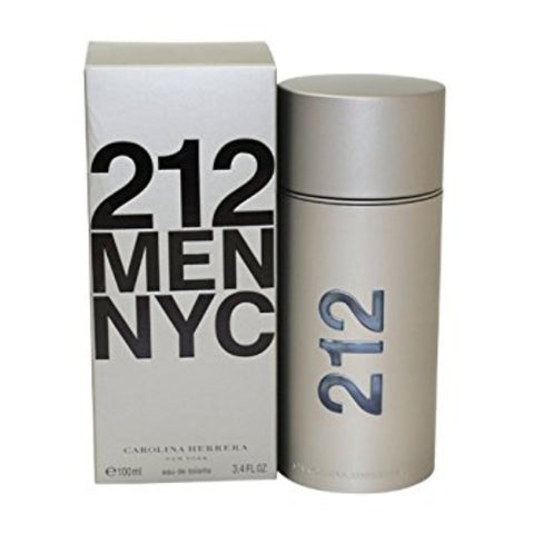 212 MEN NYC by Carolina Herrera Men Eau De Toilette 3.4 oz