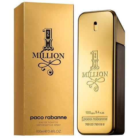 1 Million by Paco Rabanne Men Eau De Toilette 3.4 oz