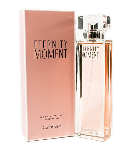 Eternity Moment by Calvin Klein Women Eau De Parfum 3.4 oz