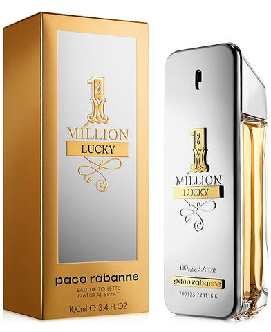 Paco Rabanne 1 Million Lucky by Paco Rabanne Men Eau De Toilette 3.4 oz