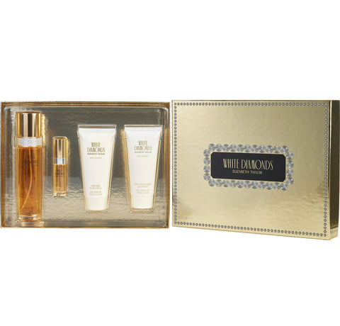 White Diamonds  by Elizabeth Taylor Women Gift Set 4 Piezas