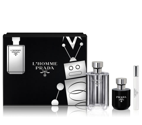 Prada L'Homme by Prada Men Gift Set 3 Piezas