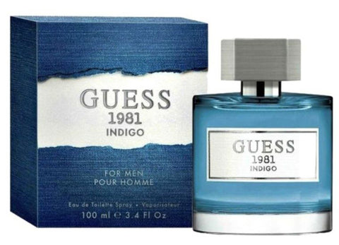 Guess 1981 Indigo by Guess Men Eau De Toilette 3.4 oz