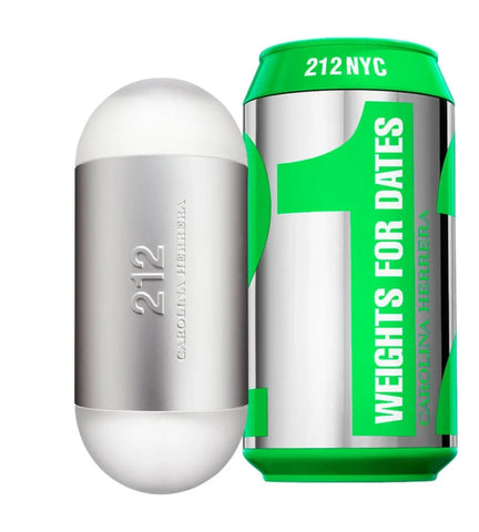 212 NYC Weights For Dates by Carolina Herrera Men Eau De Parfum 3.4 oz