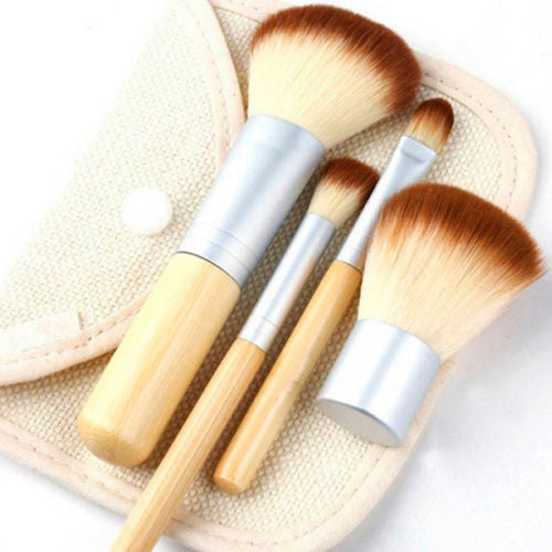 Eco friendly bamboo make up brush set