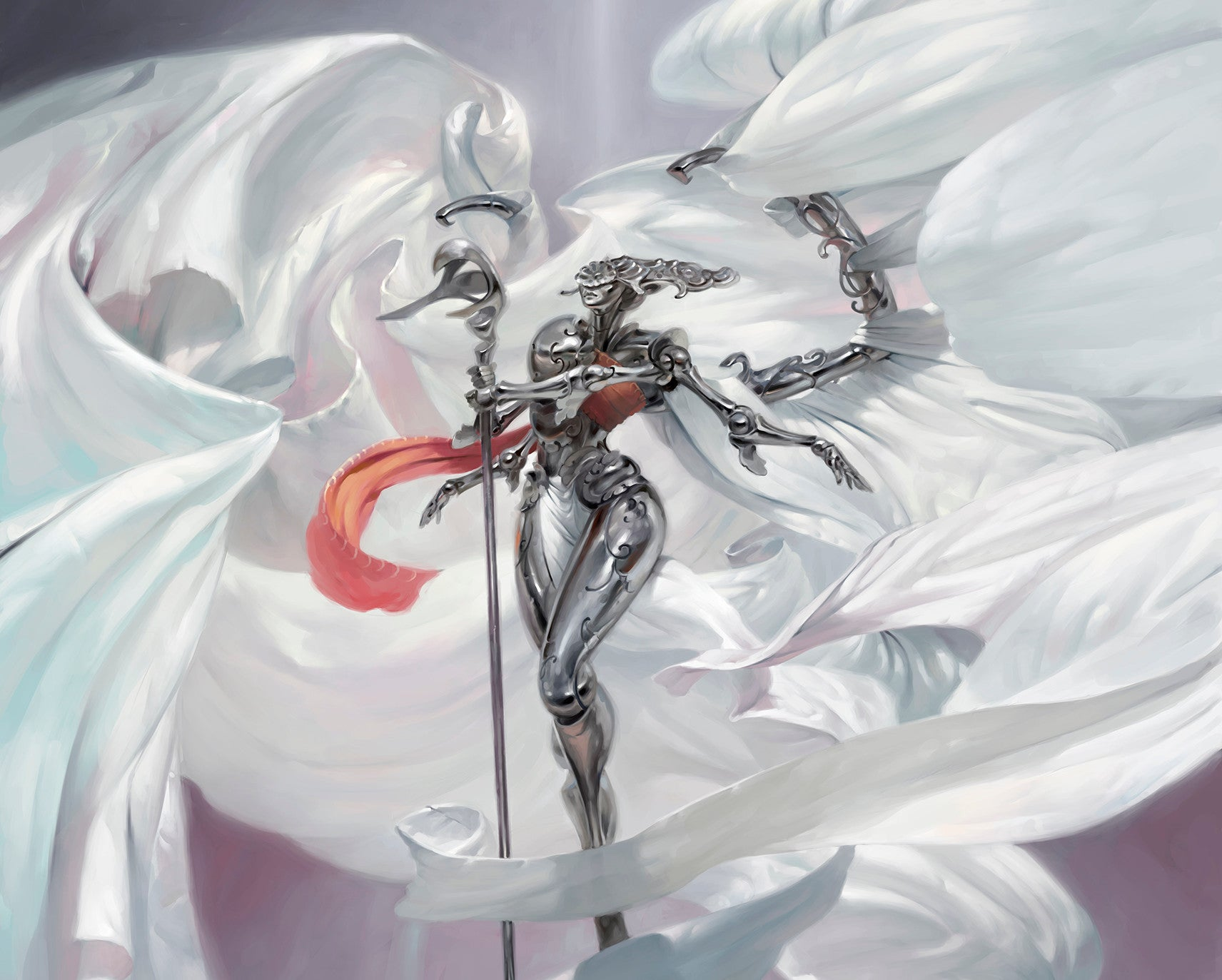 Art in Focus - Platinum Angel Masterpiece by Victor Adame Minguez