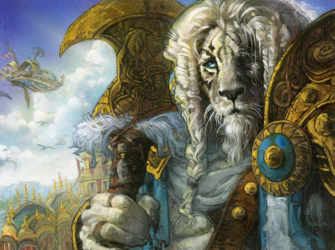 Art in Focus - Ajani's Aid by Terese Nielsen