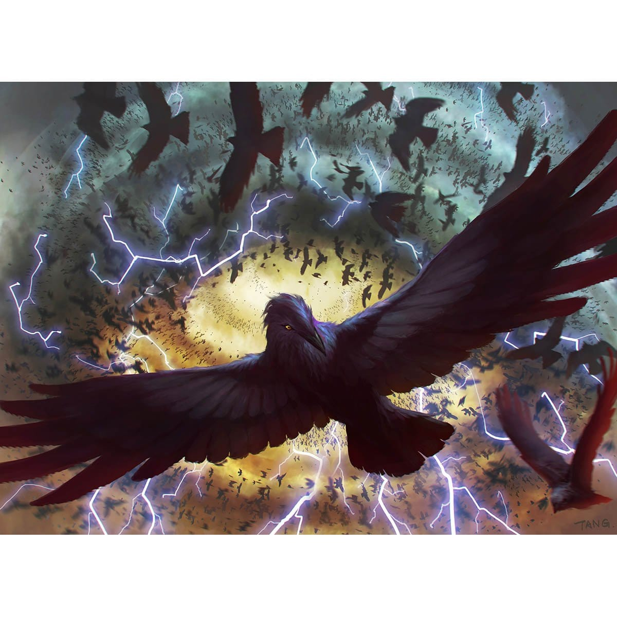 Crow Storm Print - Print - Original Magic Art - Accessories for Magic the Gathering and other card games