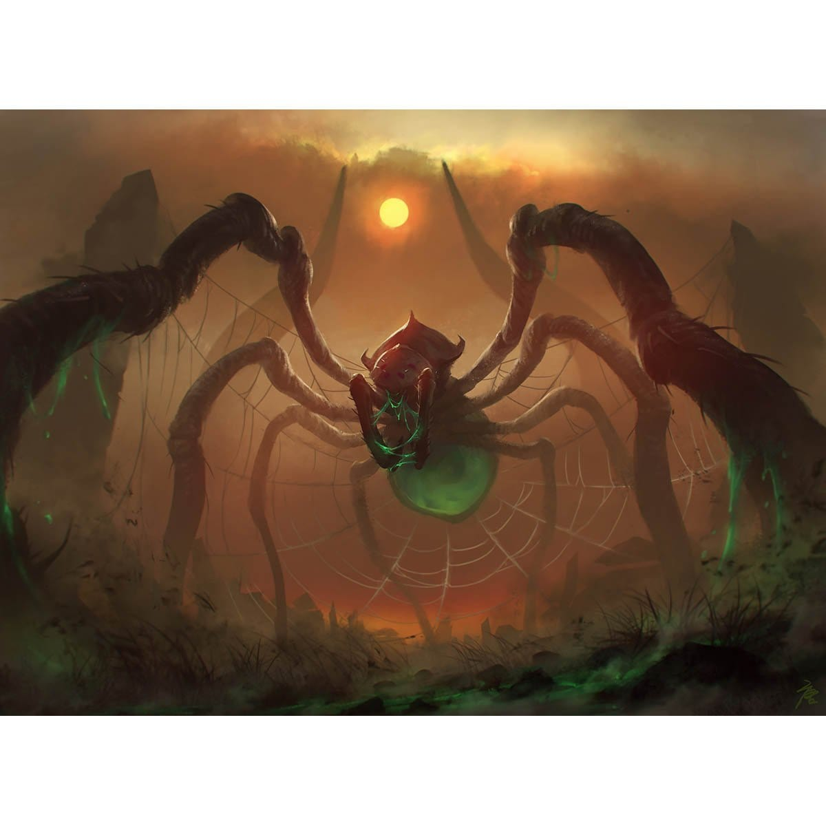 Obelisk Spider Print - Print - Original Magic Art - Accessories for Magic the Gathering and other card games